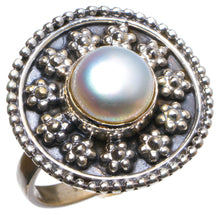 Natural River Pearl Handmade Unique 925 Sterling Silver Ring, US size 7.5 X2573