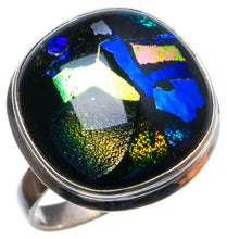 Natural Fancy Dichroic Glass Handmade Unique 925 Sterling Silver Ring, US size 7 X2689