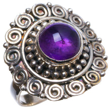 Natural Amethyst Handmade Unique 925 Sterling Silver Ring, US size 9 X2749