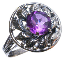 Natural Amethyst Handmade Unique 925 Sterling Silver Ring, US size 6 X2805
