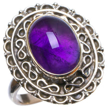 Natural Amethyst Handmade Unique 925 Sterling Silver Ring, US size 7.75 X2978