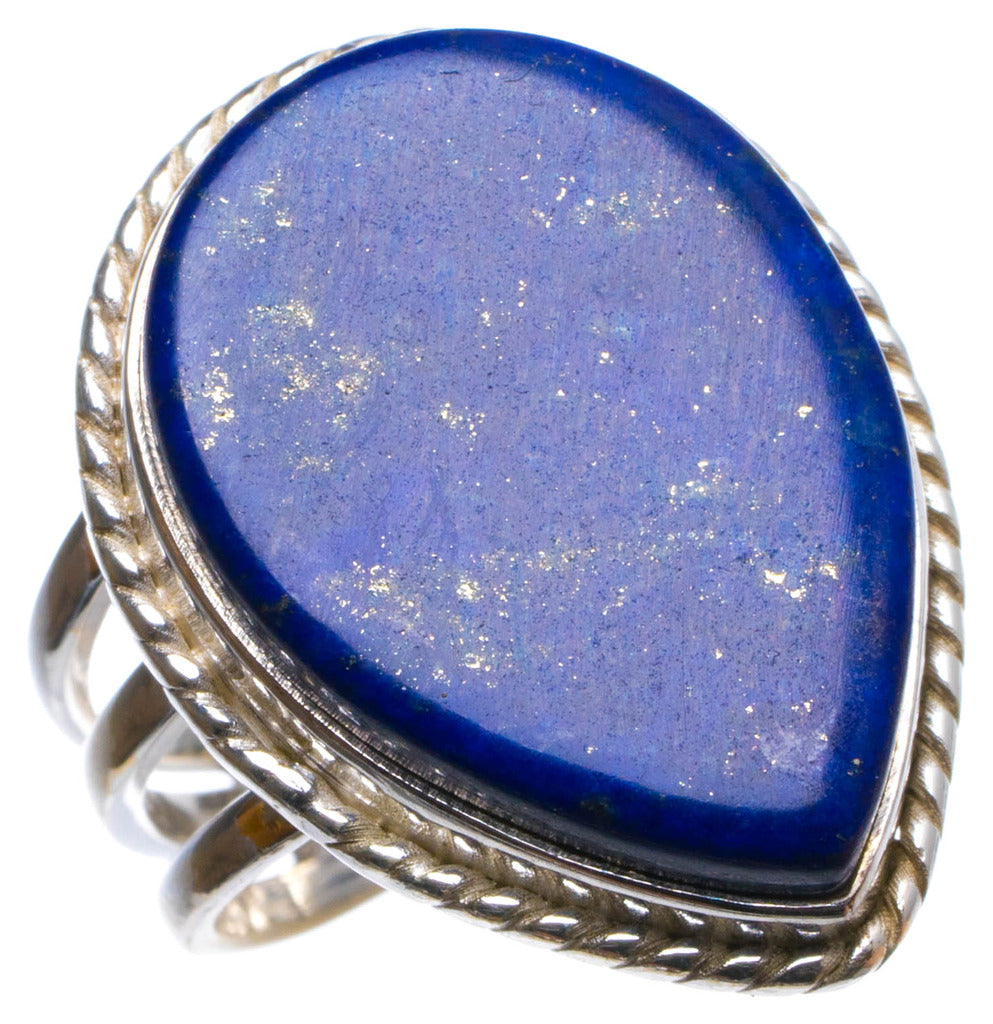 Natural Lapis Lazuli Handmade Unique 925 Sterling Silver Ring, US size 6.5 X3112