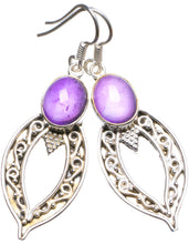 "Natural Amethyst Handmade Unique 925 Sterling Silver Earrings 2"" X3225"