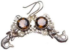 "Natural Smoky Quartz Handmade Unique 925 Sterling Silver Earrings 1.75"" X3331"