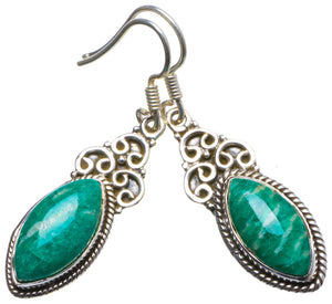 "Natural Amazonite Handmade Unique 925 Sterling Silver Earrings 1.5"" X3441"