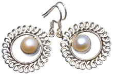 "Natural River Pearl Handmade Unique 925 Sterling Silver Earrings 1.5"" X3521"