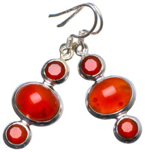 "Natural Carnelian Handmade Unique 925 Sterling Silver Earrings 1.5"" X3527"