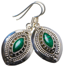 "Natural Malachite Handmade Unique 925 Sterling Silver Earrings 1.5"" X3567"