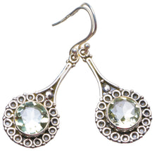 "Natural Green Amethyst Handmade Unique 925 Sterling Silver Earrings 2"" X3600"