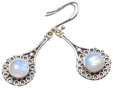 "Natural Rainbow Moonstone Handmade Unique 925 Sterling Silver Earrings 2"" X3601"