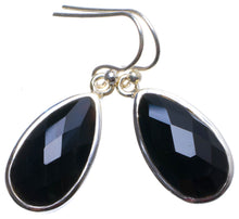"Natural Black Onyx Handmade Unique 925 Sterling Silver Earrings 1.25"" X3735"