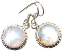 "Natural Rainbow Moonstone Handmade Unique 925 Sterling Silver Earrings 1"" X3758"