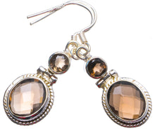 "Natural Smoky Quartz Handmade Unique 925 Sterling Silver Earrings 1.5"" X3803"