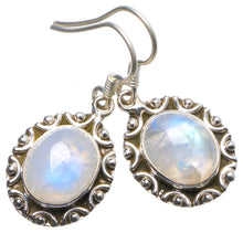 "Natural Rainbow Moonstone Handmade Unique 925 Sterling Silver Earrings 1.25"" X3847"