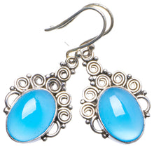"Natural Chalcedony Handmade Unique 925 Sterling Silver Earrings 1.5"" X3896"
