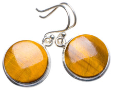 "Natural Tiger Eye Handmade Unique 925 Sterling Silver Earrings 1.25"" X3941"