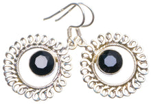 "Natural Black Onyx Handmade Unique 925 Sterling Silver Earrings 1.75"" X4168"