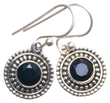 "Natural Black Onyx Handmade Unique 925 Sterling Silver Earrings 1"" X4193"