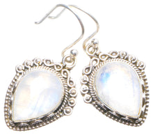 "Natural Rainbow Moonstone Handmade Unique 925 Sterling Silver Earrings 1.25"" X4280"