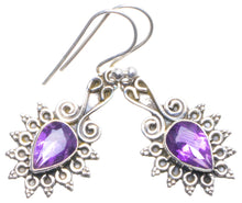 "Natural Amethyst Handmade Unique 925 Sterling Silver Earrings 1.5"" X4476"