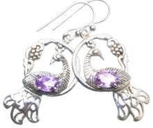 "Natural Amethyst Handmade Unique 925 Sterling Silver Earrings 1.75"" X4514"