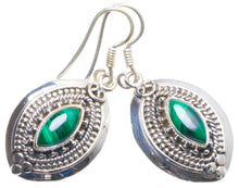 "Natural Malachite Handmade Unique 925 Sterling Silver Earrings 1.5"" X4605"