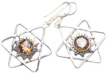 "Natural Smoky Quartz Handmade Unique 925 Sterling Silver Earrings 1.75"" X4698"