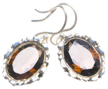 "Natural Smoky Quartz Handmade Unique 925 Sterling Silver Earrings 1.25"" X4777"