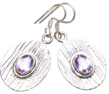 "Natural Amethyst Handmade Unique 925 Sterling Silver Earrings 1.5"" X4803"