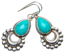 "Natural Turquoise Handmade Unique 925 Sterling Silver Earrings 1.5"" X4906"