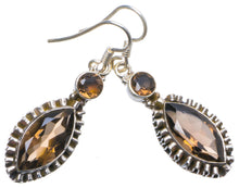 "Natural Smoky Quartz Handmade Unique 925 Sterling Silver Earrings 1.75"" X4909"