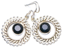 "Natural Black Onyx Handmade Unique 925 Sterling Silver Earrings 1.5"" X5023"