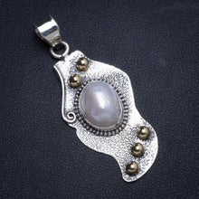 "Natural Two Tones Biwa Pearl Handmade Unique 925 Sterling Silver Pendant 2"" X0014"