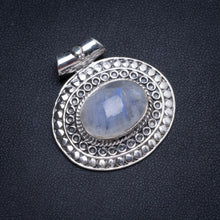 "Natural Moonstone Handmade Unique 925 Sterling Silver Pendant 1.25"" X0071"