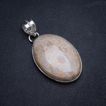 "Natural Chrysanthemum Jasper Handmade Unique 925 Sterling Silver Pendant 1.5"" X0158"