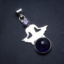 "Natural Amethyst Handmade Unique 925 Sterling Silver Pendant 1.75"" X0355"