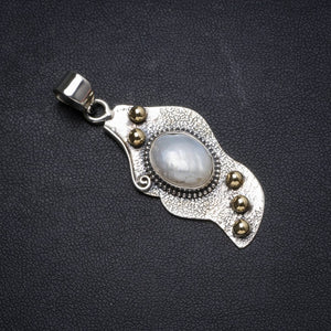 "Natural Two Tones Biwa Pearl Handmade Unique 925 Sterling Silver Pendant 1.75"" X0832"