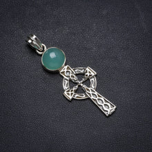 "Natural Chrysoprase Handmade Unique 925 Sterling Silver Pendant 2"" X0982"