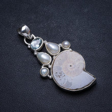 "Natural Rose Quartz and Amethyst Handmade Unique 925 Sterling Silver Pendant 1.5"" X1038"
