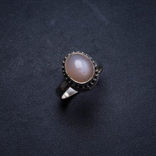 Natural Cat Eye Handmade Unique 925 Sterling Silver Ring, US size 7 X1694