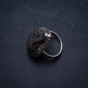 Natural Stingray Coral Handmade Unique 925 Sterling Silver Ring, US size 5.5 X1814