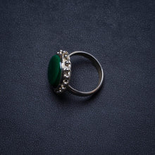 Natural Malachite Handmade Unique 925 Sterling Silver Ring, US size 5 X1884