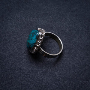 Natural Chrysocolla Handmade Unique 925 Sterling Silver Ring, US size 6 X1898