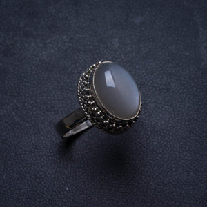 Natural Cat Eye Antique Design Handmade Unique 925 Sterling Silver Ring, US size 7.75 X2079