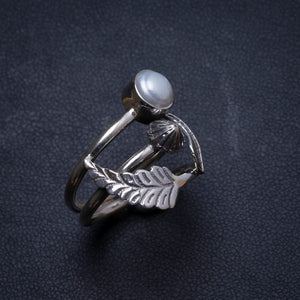 Natural River Pearl Handmade Unique 925 Sterling Silver Ring, US size 7.25 X2087