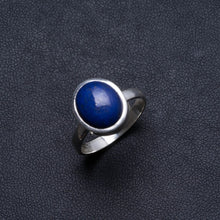 Natural Lapis Lazuli Handmade Unique 925 Sterling Silver Ring, US size 8.25 X2107