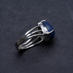 Natural Lapis Lazuli Handmade Unique 925 Sterling Silver Ring, US size 9.25 X2141