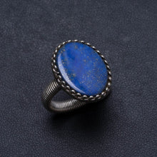 Natural Lapis Lazuli Handmade Unique 925 Sterling Silver Ring, US size 7 X2230
