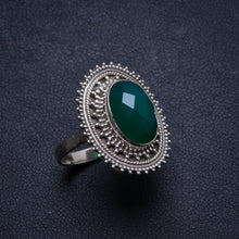 Natural Chrysoprase Handmade Unique 925 Sterling Silver Ring, US size 8.5 X2423