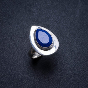 Natural Lapis Lazuli Handmade Unique 925 Sterling Silver Ring, US size 5.75 X2486